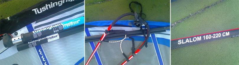 Tushingham (T4) 6.5m with mast and Slalom 160-220 boom