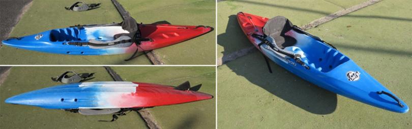 Surfjet sit on top beach kayak