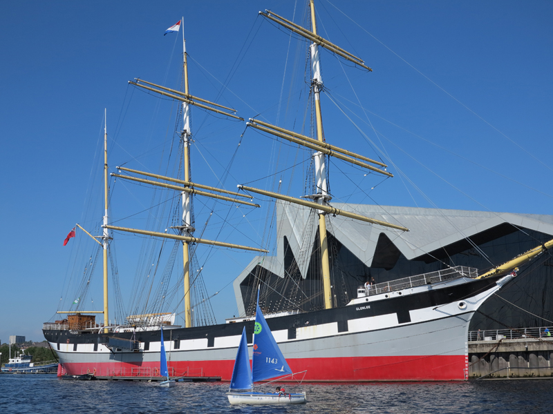 The Tall Ship and Riverside Museum make for a stunning backdrop