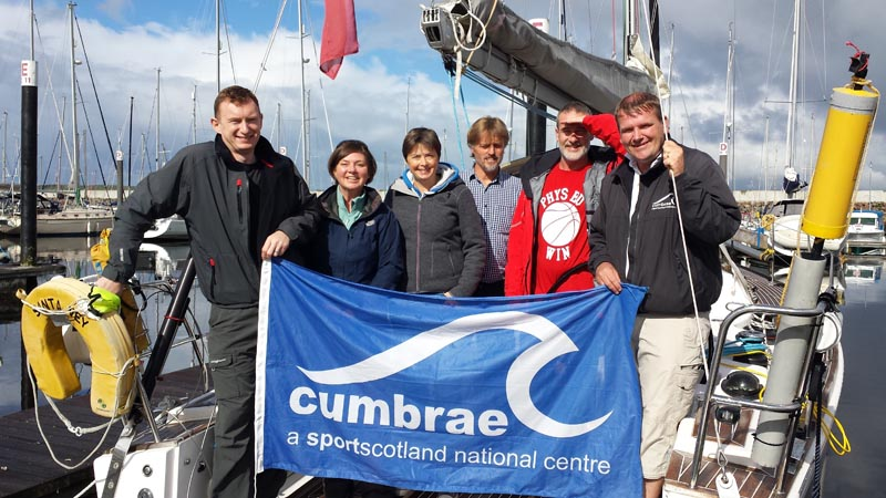 First Day: Leaving Largs Marina to 'Catch the Clipper'