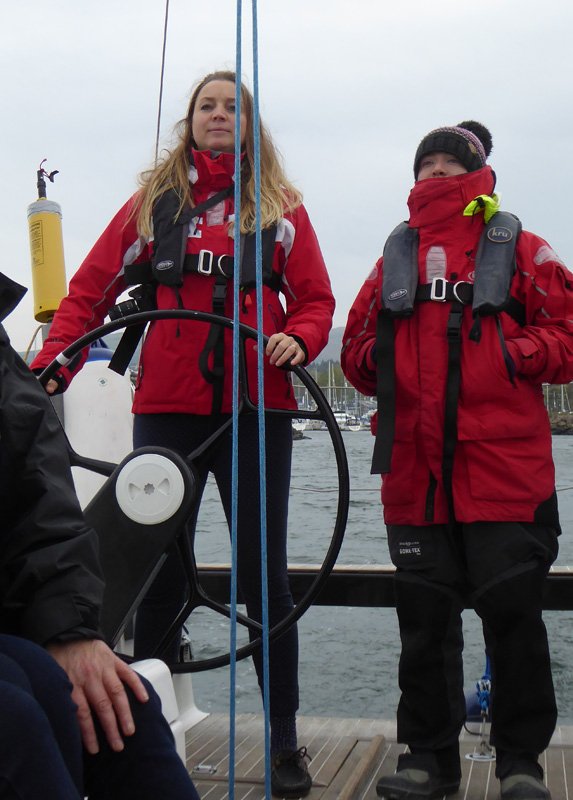 Laura from 'Practical Boat Owner', with Beckie